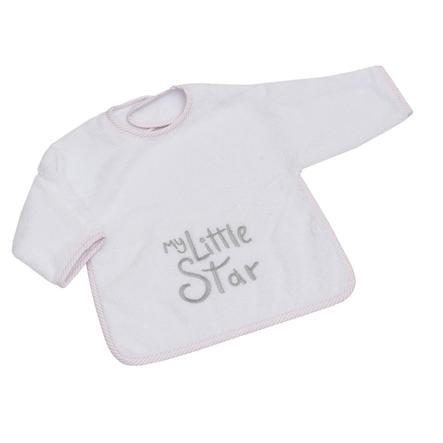 El babero de la Colección Be Be con velcro My little Star rosa