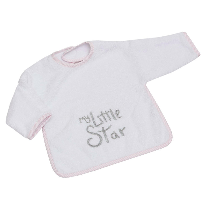 BeBes Collection Bavoir manches à scratch enfant My little Star rose