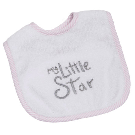 Be Be 's Collection Velcro Bib Min lille stjerne pink