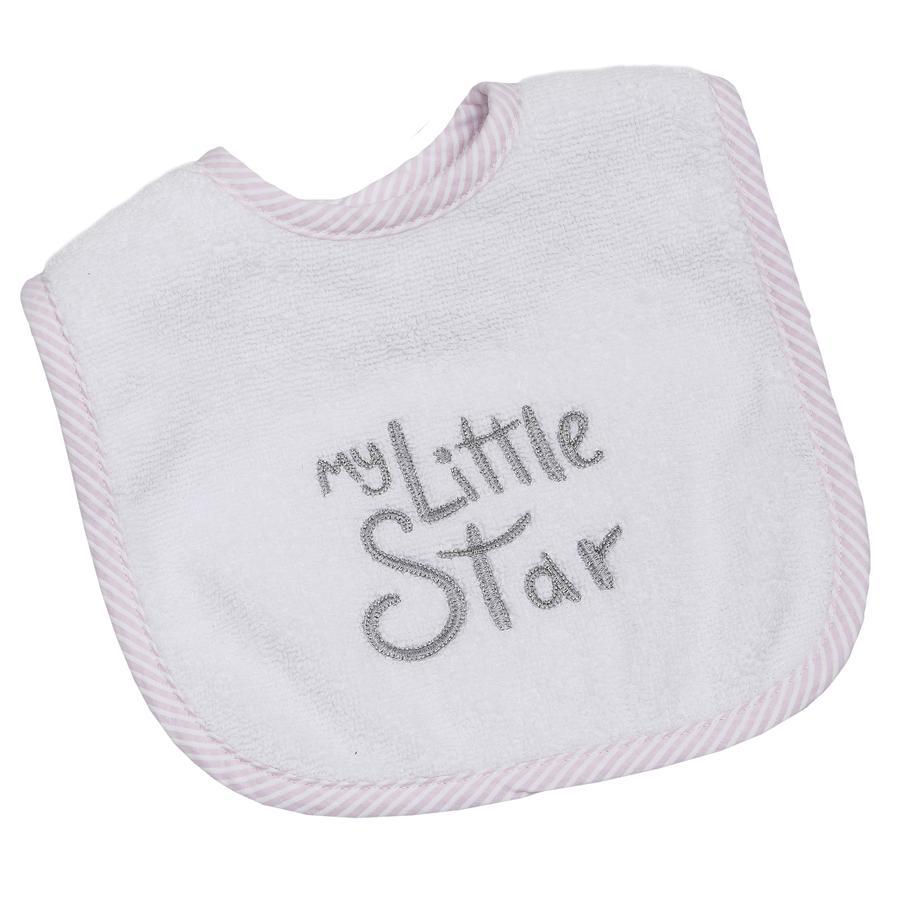 Be Be's Collection Velcro Bib My Little Star růžová