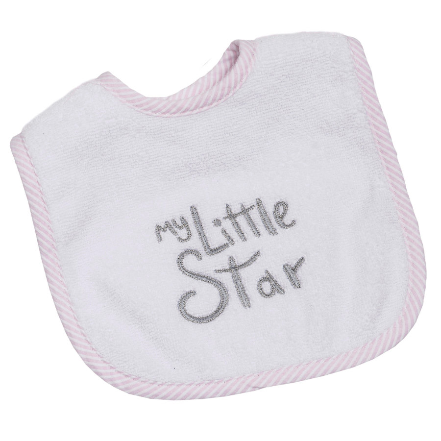 Be Be's Collection Velcro Ruokalappu My little Star vaaleanpunainen
