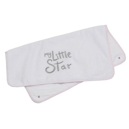 Výměna froté podložky Be Be's Collection My Little Star pink 85 x 70 cm