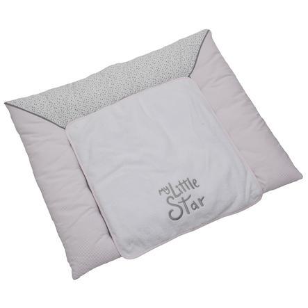 Be Be 's Collection Skiftemåtte Min lille stjerne pink 85 x 70 cm