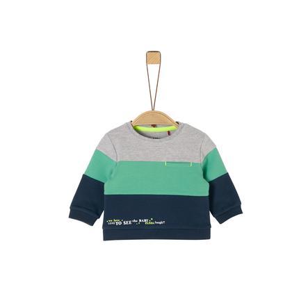 s. Olive r Sweatshirt bleu foncé