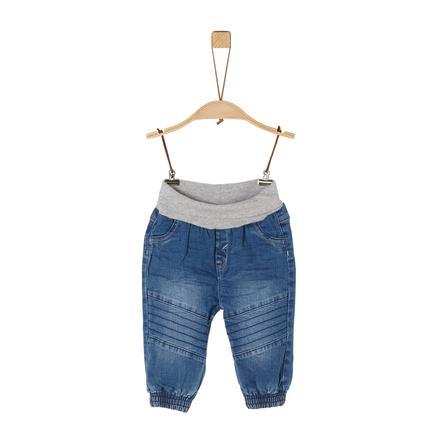s. Olive r Jeans blue denim stretch
