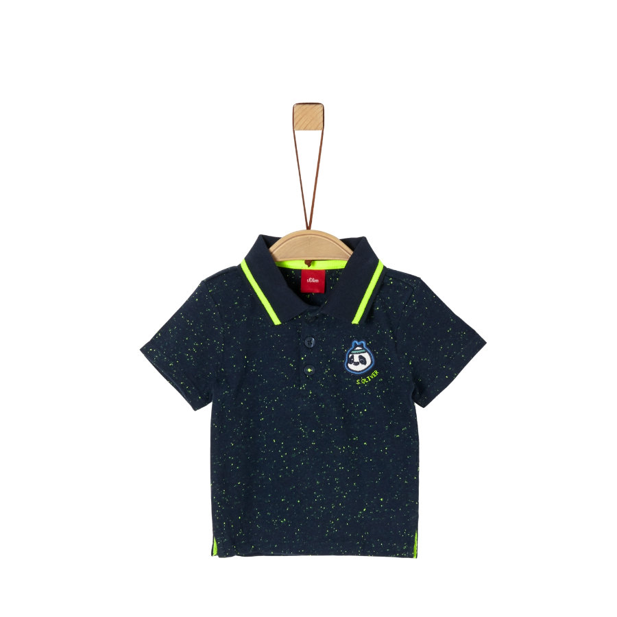s. Olive r Poloshirt navy melange