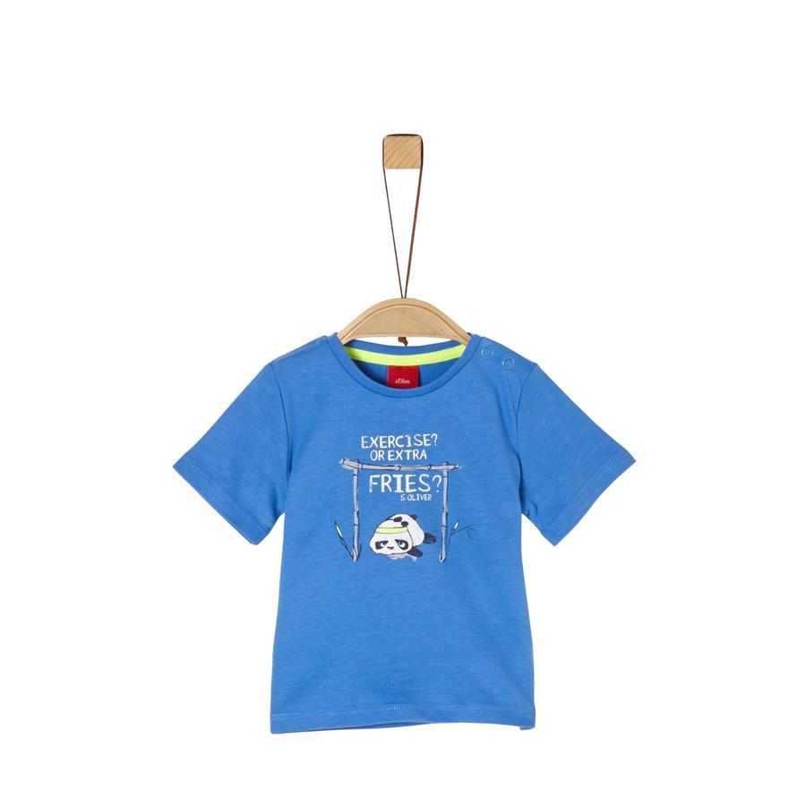 s. Oliven r T-skjorte blå