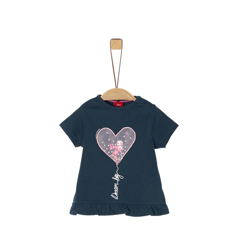 s. Oliv r T-shirt mörkblå