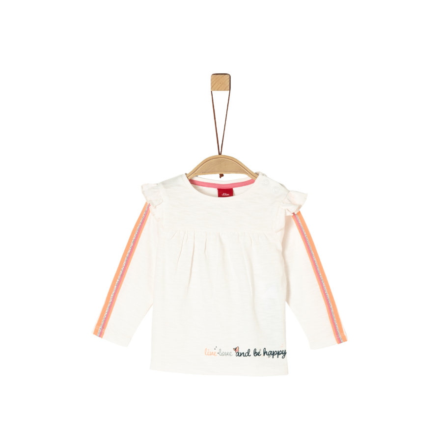 s. Olive r Overhemd met lange mouwen ecru