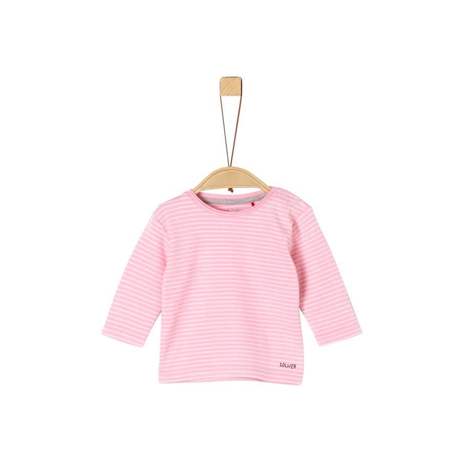 s. Olive r Longsleeve tričko růžové pruhy