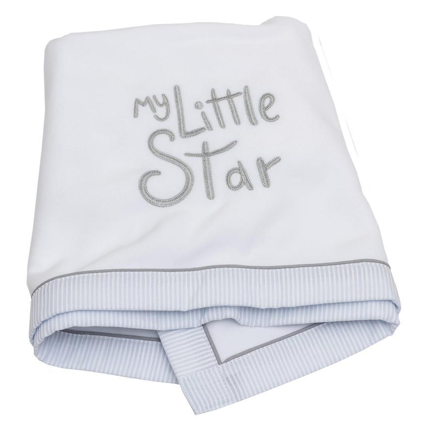 Be Be 's Collection Deken Fleece My little Star blauw