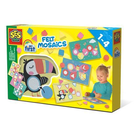 SES Creative® Jeu de mosaïque enfant My First en feutre