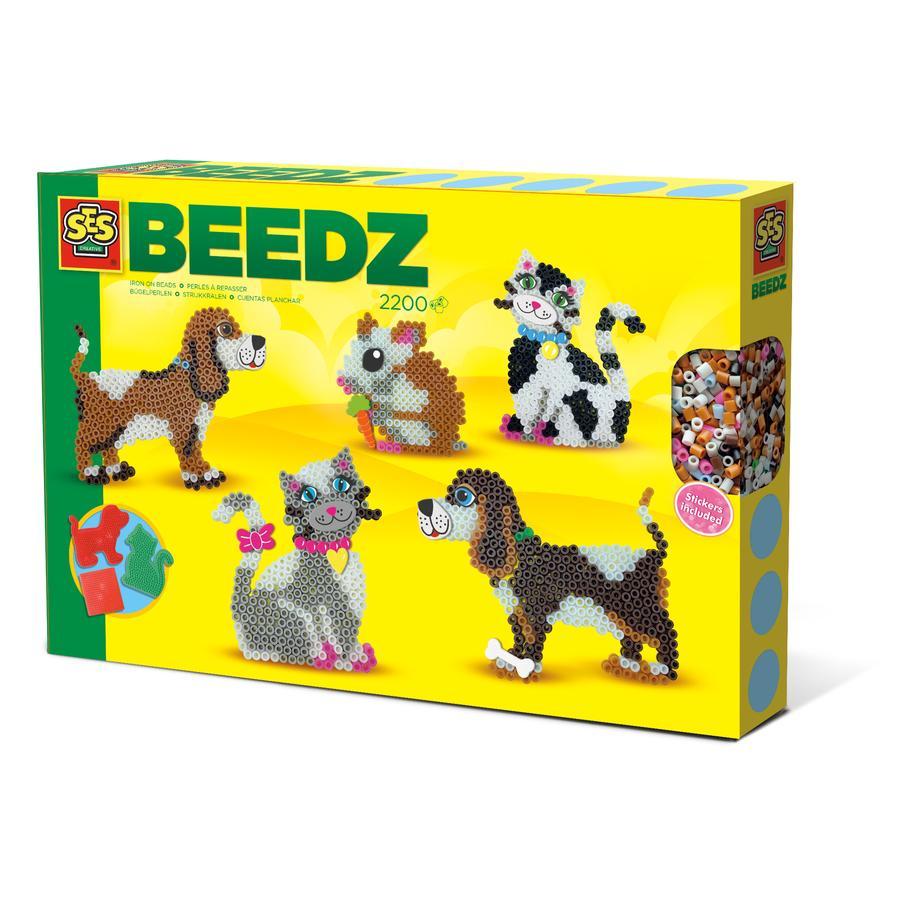 SES Creative® BEEDZ Bügelperlen Haustiere