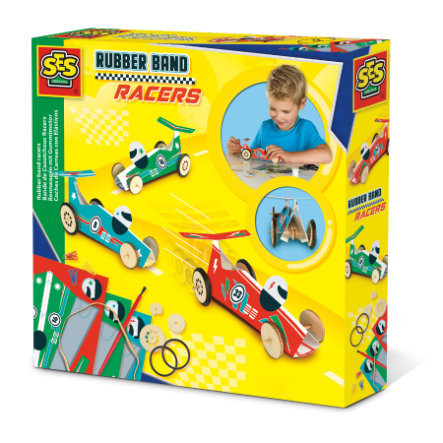 SES Creativ e® racerbil med gummimotor