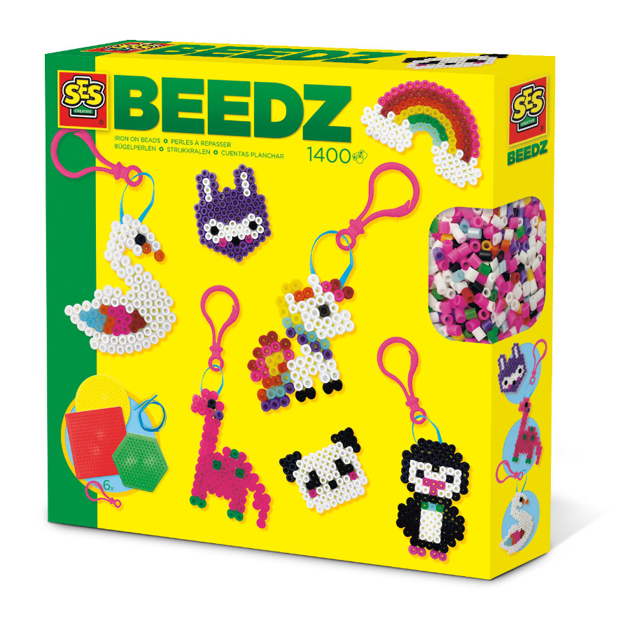 SES Creative® BEEDZ Bügelperlen Schlüsselanhänger