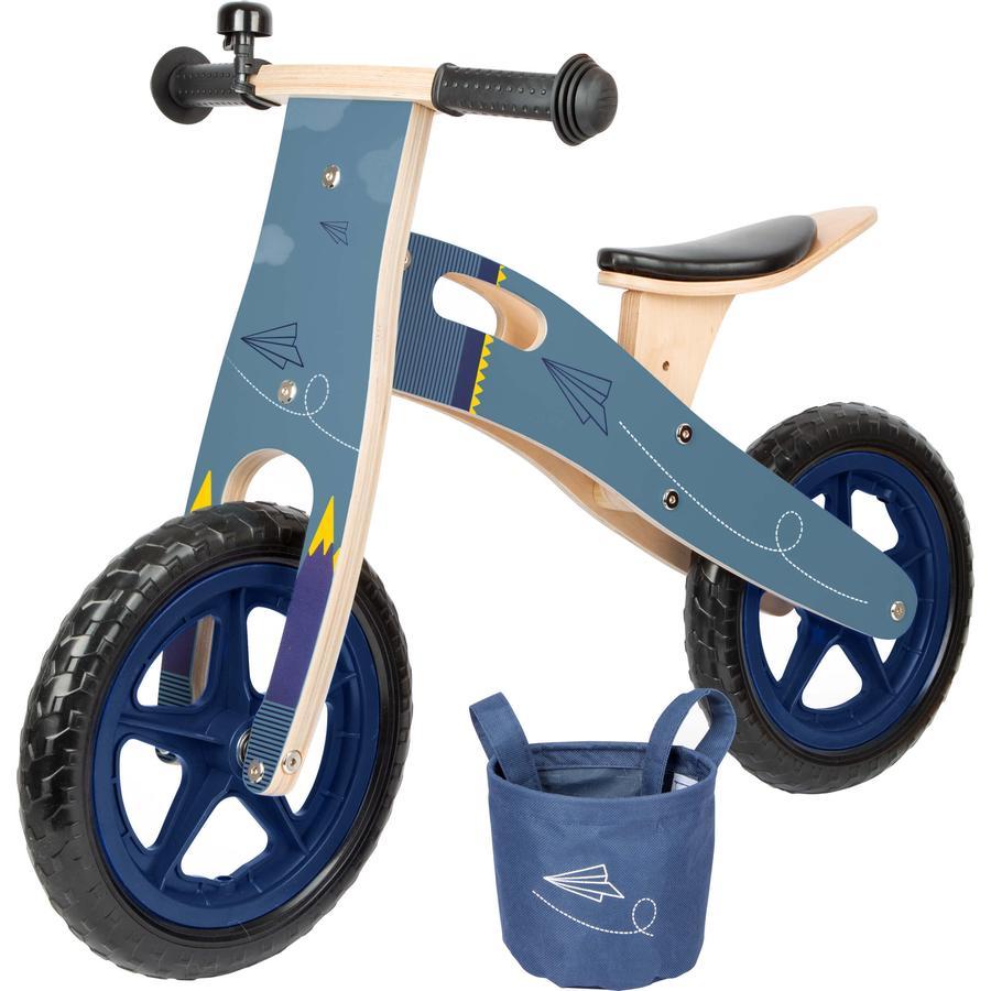 small foot® Laufrad blauer Papierflieger