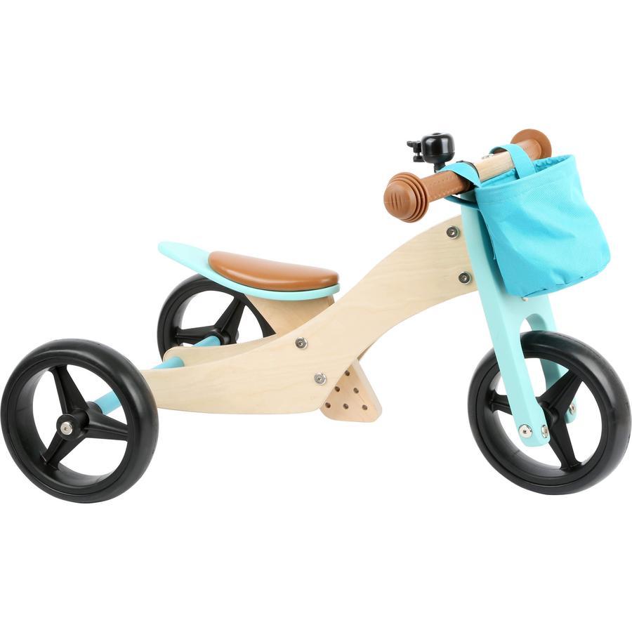 small foot® Løbecykel trike 2 i 1 turkis