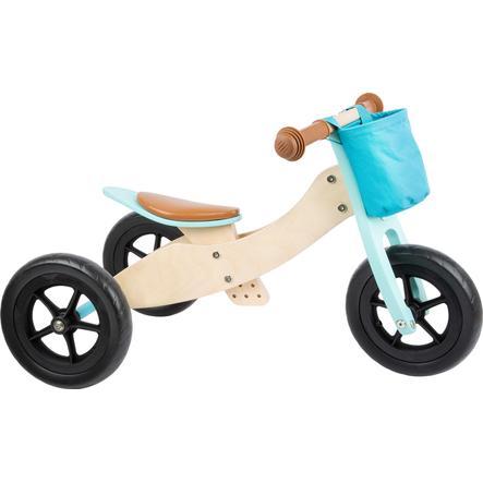 small foot  ® triciclo impulsor Maxi 2 en 1 turquesa