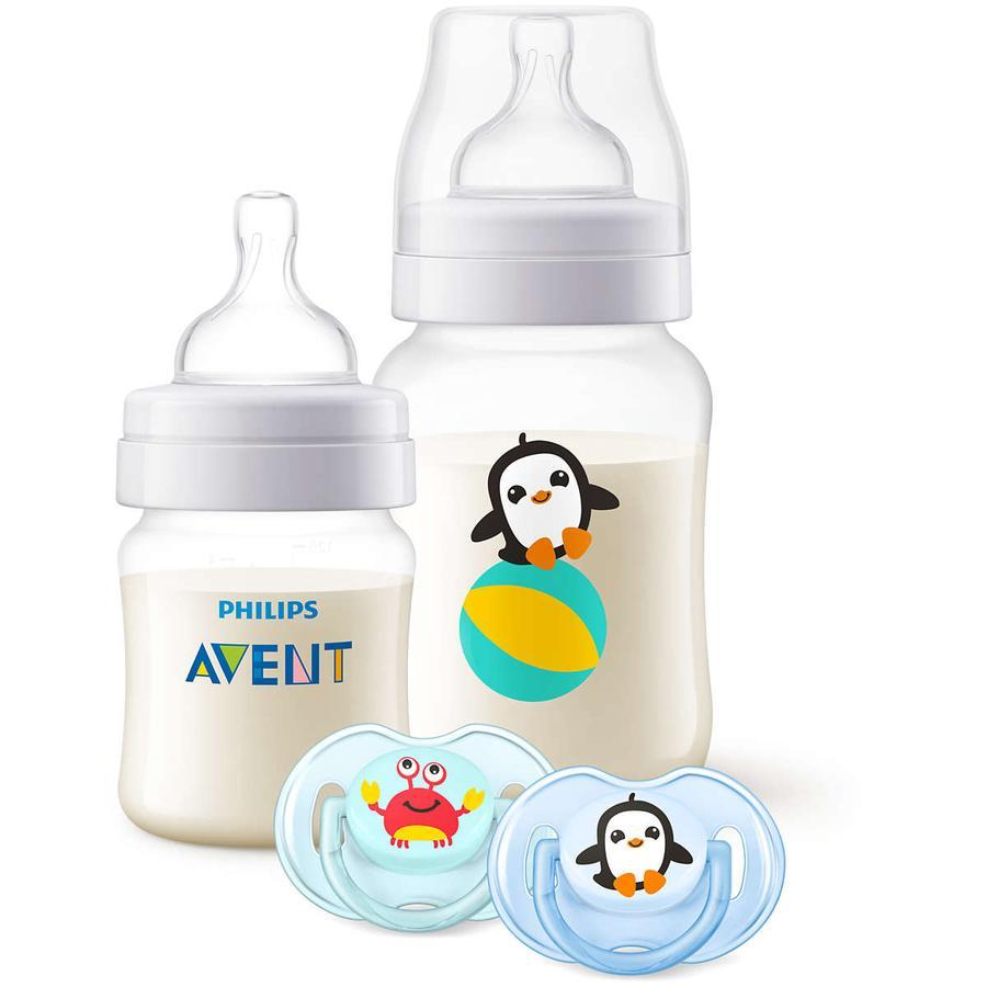 Philips Avent antikolikk flaskegavesett SCD805 / 01 for nyfødte 125 ml + 260 ml