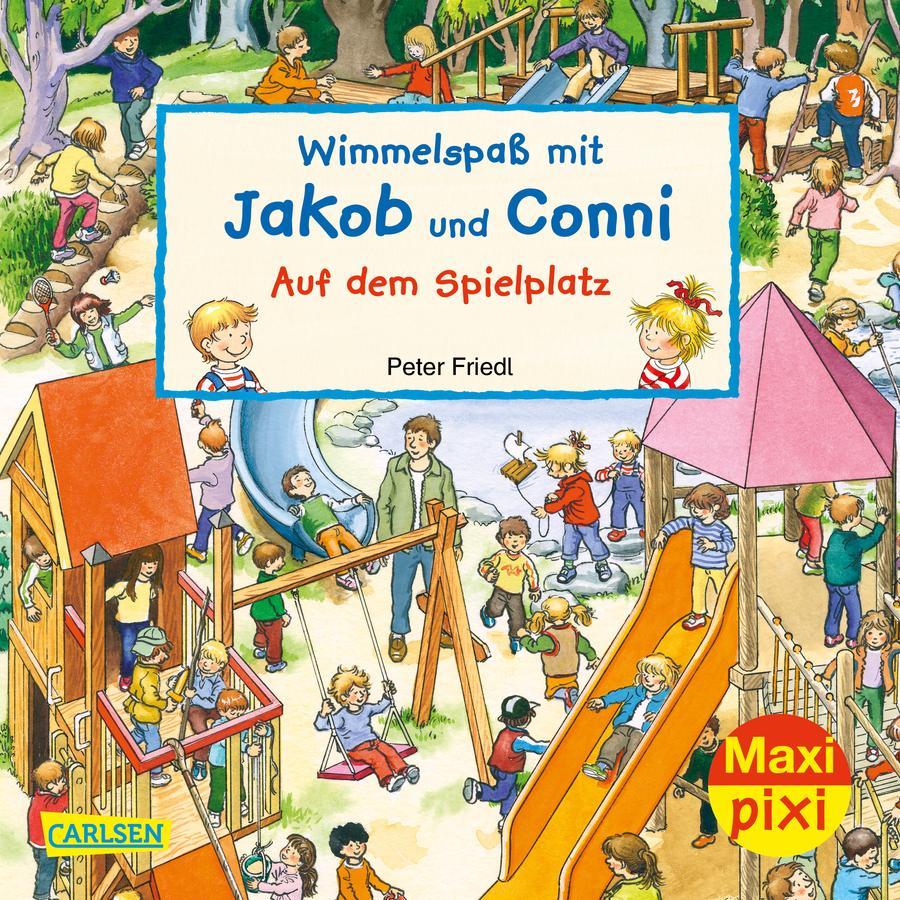 CARLSEN Maxi Pixi 320: Wimmelspaß mit Jaob und Conni - Auf dem Spielplatz
