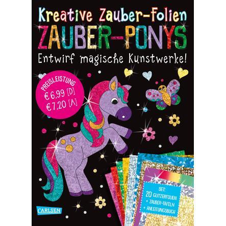 CARLSEN Kreative-Zauber-Folien-Set: Zauber-Ponys