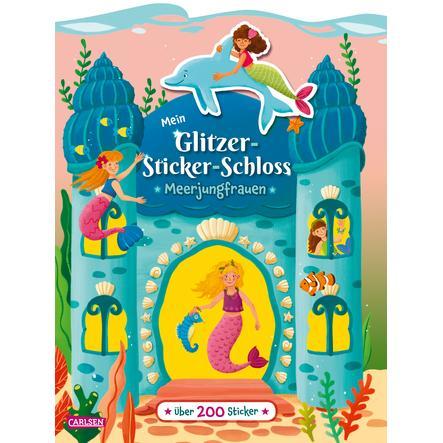 CARLSEN Mein Glitzer-Sticker-Schloss - Meerjungfrauen
