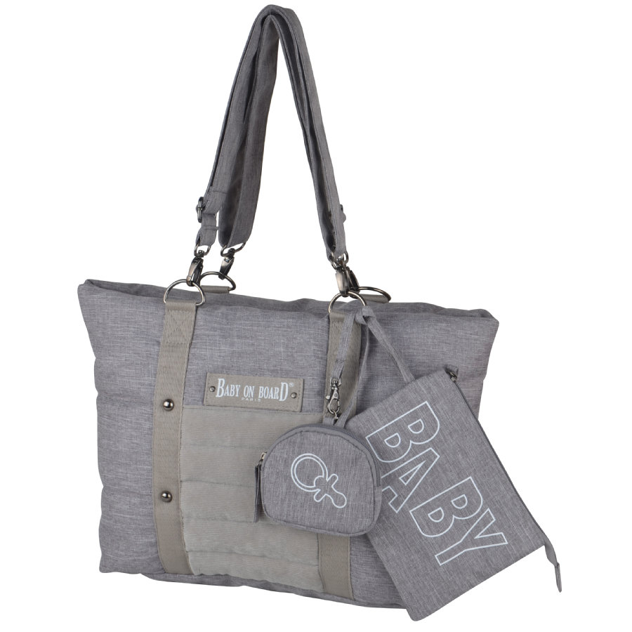 BABY ON BOARD Sac à langer Citizen gris