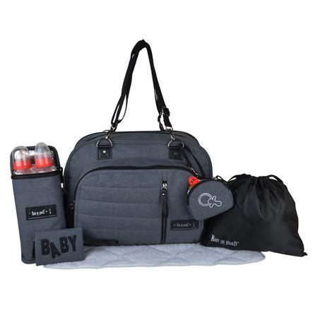 BABY ON BOARD  Taška na pleny Daily Smoke Grey