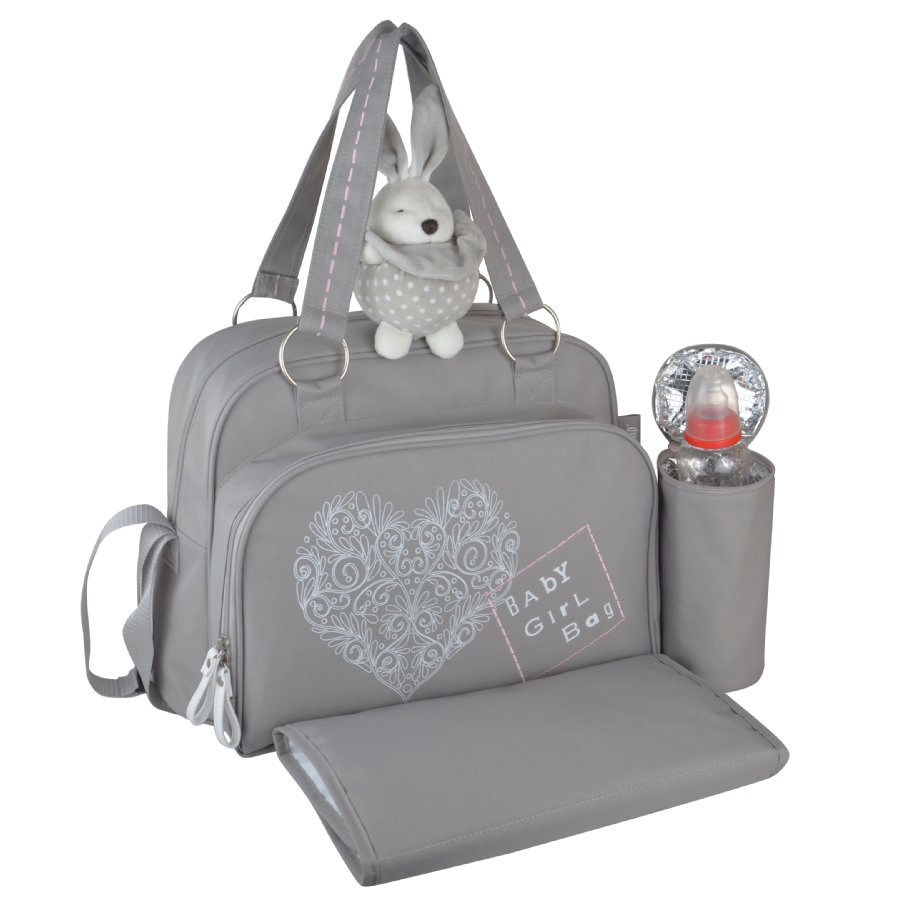 BABY ON BOARD Wickeltasche Love and Romance Grau