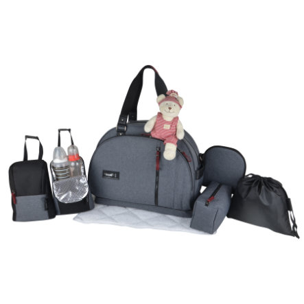 BABY ON BOARD Wickeltasche Weekend Grau