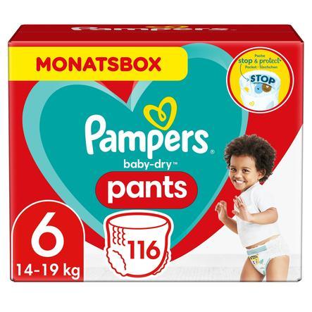 Pampers Baby-Dry Pants, storlek 6, 15+kg, månadsförpackning (1 x 116 byxblöjor)