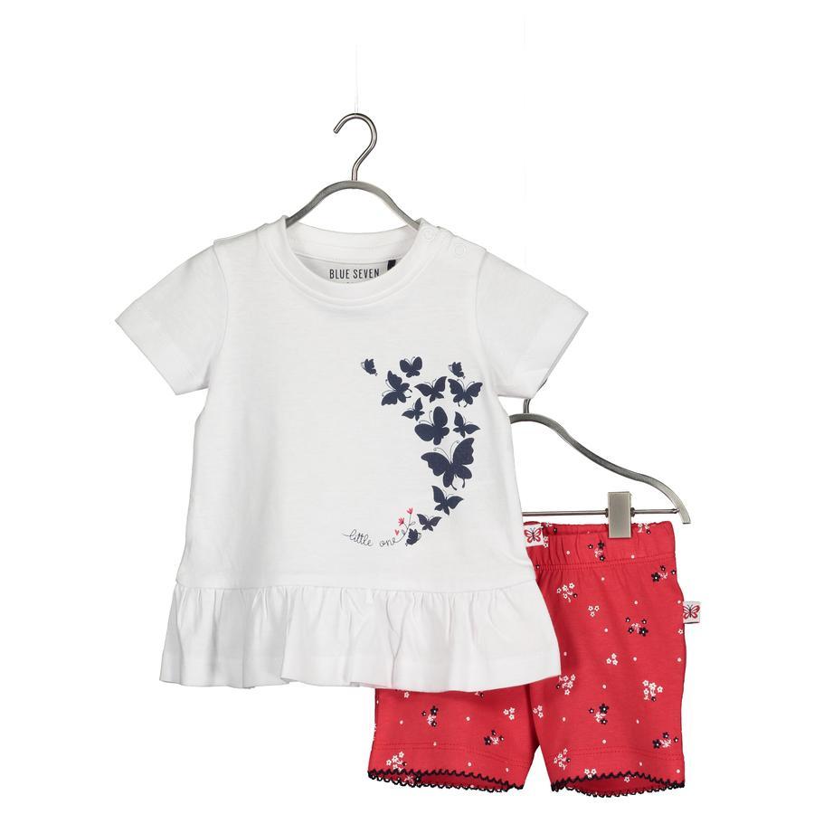 BLUE SEVEN Baby 2-delt sett tunika + shorts hvit