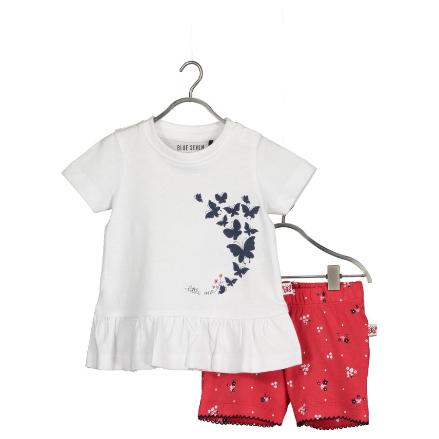 BLUE SEVEN Baby 2er-Set Tunika + Shorts Weiss