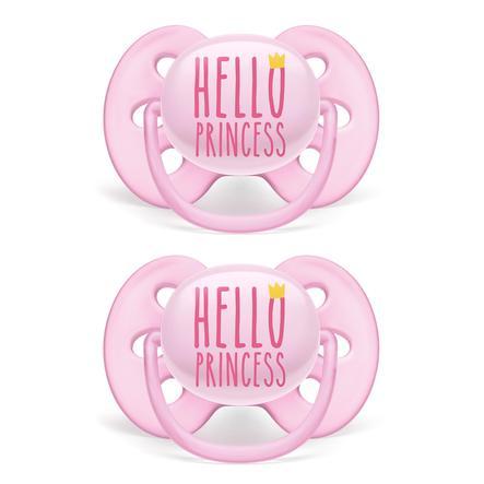 Philips Avent Schnuller ultra soft SCF529/01 6 - 18 Monate, 2er-Pack rosa