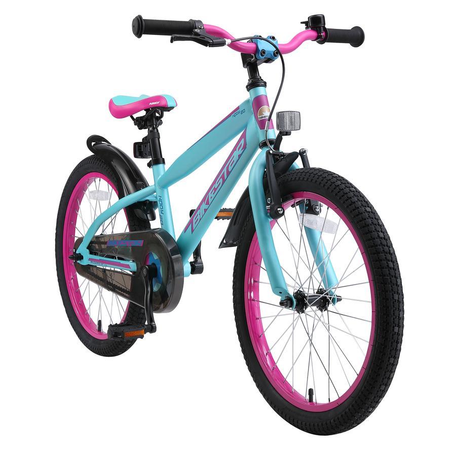 """bikestar Lasten polkupyörä 20"""" Classic berry-turkoosi"""