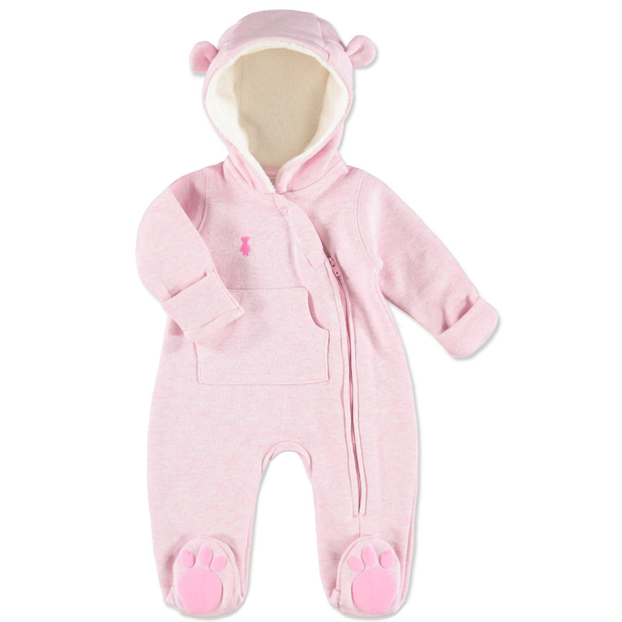 LITTLE Melange Sweat Overall pink