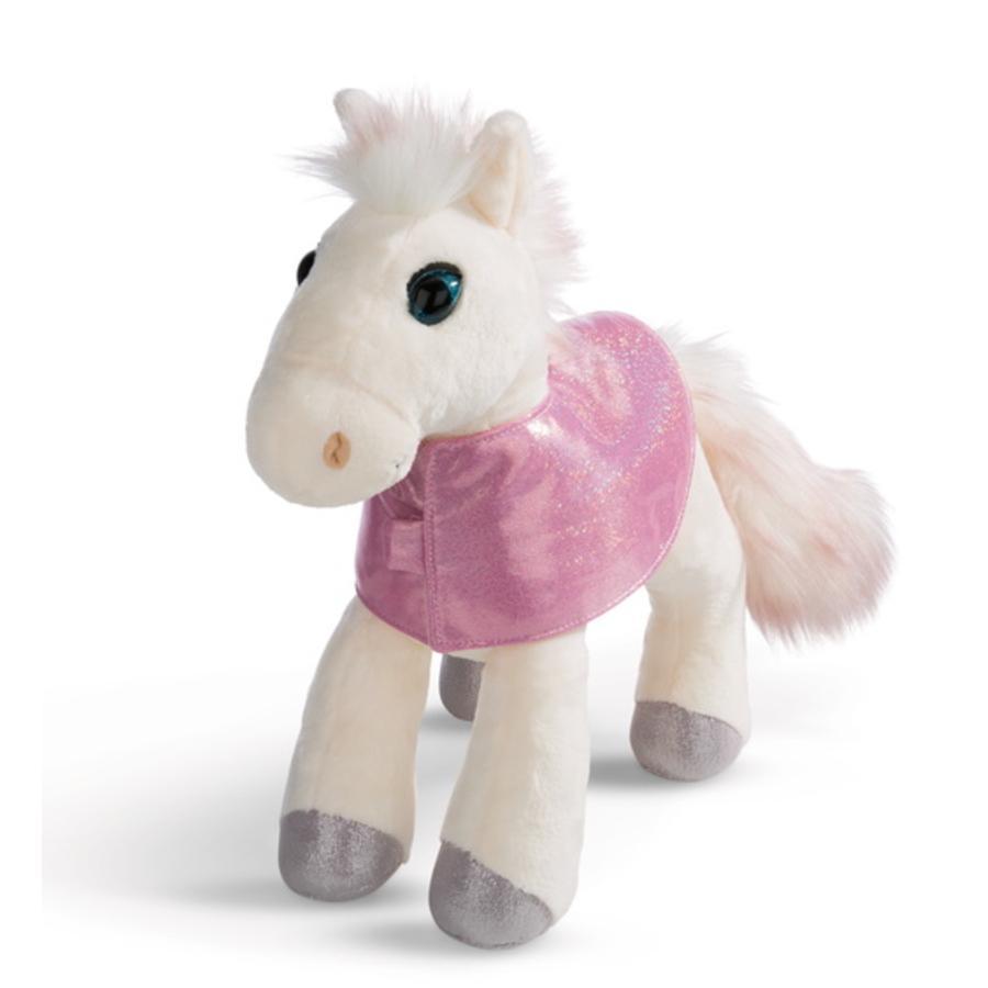 NICI Soulmates coccolone cavallo giocattolo White Peach 35 cm in piedi con telo sella 44899