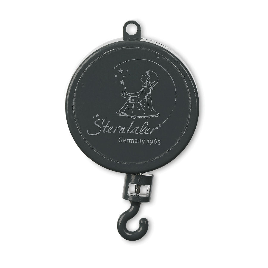 Sterntaler hrací hodiny kovově-šedé, magická flétna