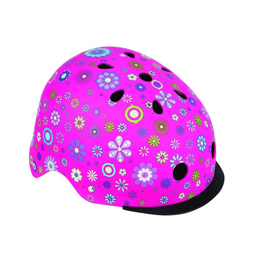 Globber Helm Elite Lights Pink Flowers