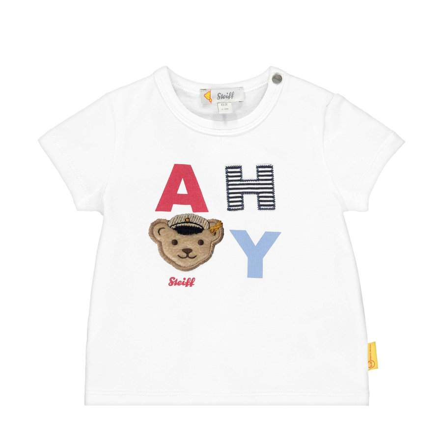 Steiff T-Shirt, bright white Ahoy