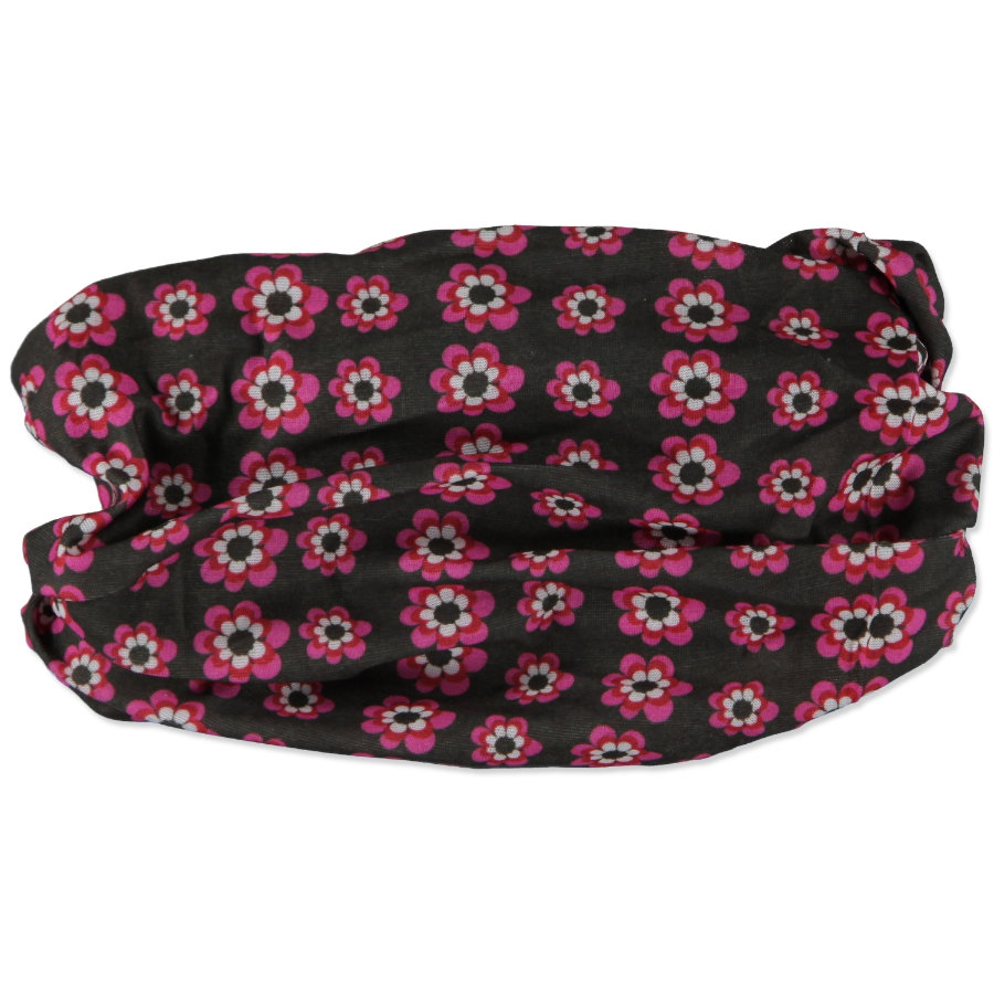 LÄSSIG Foulard Twister - Fiori rosa/marrone