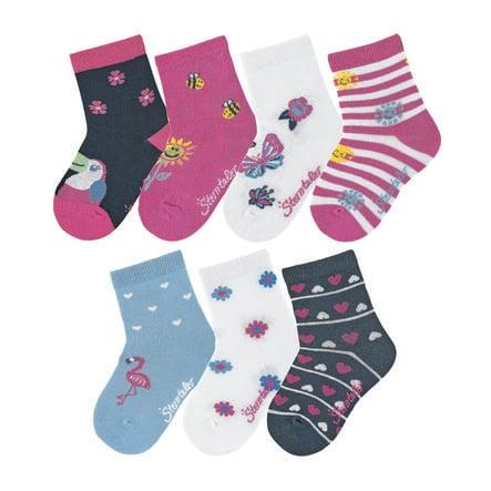 Sterntaler Socks Box of 7 pink