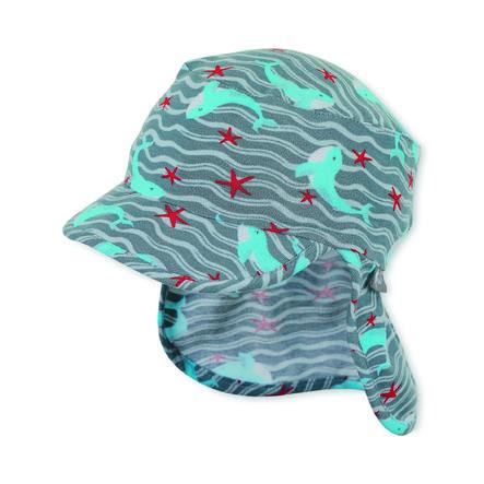 Sterntaler casquette à visière avec protection du cou gris fumée