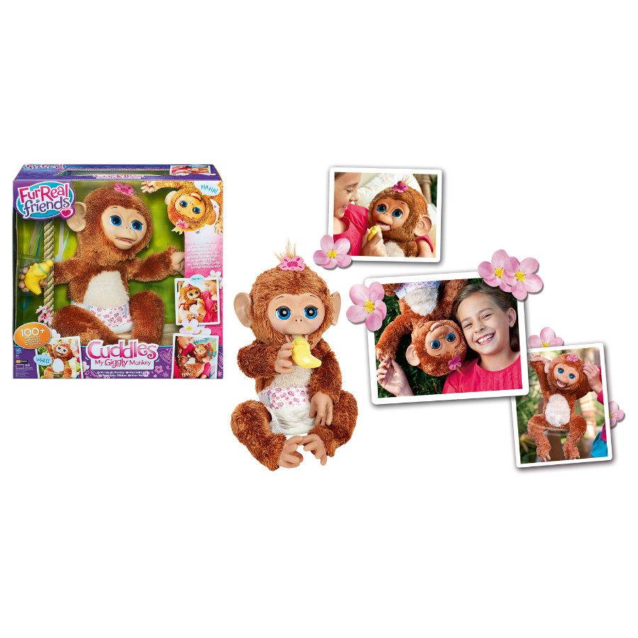 HASBRO FurReal Friends Cuddles My Giggly Monkey Pet