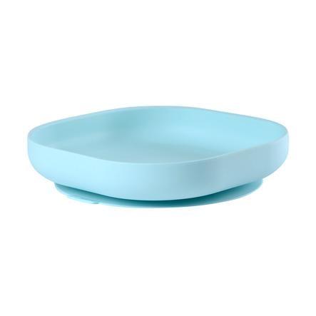 BEABA Silikonplate med sugekopp lyseblå