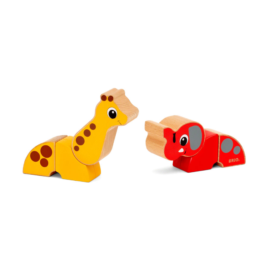 BRIO® Magnet-Tiere Giraffe und Elefant