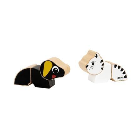 BRIO® Jouet magnétique chien et chat bois 30269