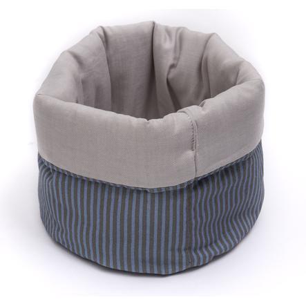 BeBes Collection Panier de rangement enfant hiboux bleu