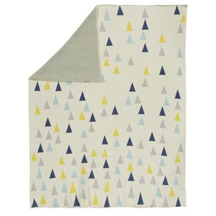 Alvi® Couverture bébé tricot Multi triangle 75x100 cm