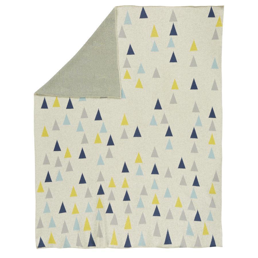 Alvi® Strickdecke Multi Triangle 75 x 100 cm